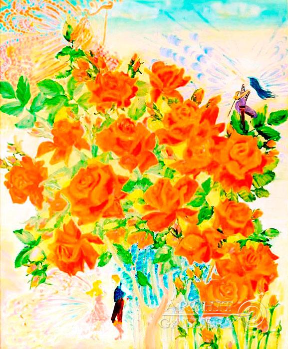 ''Розы''.  Ал Любовь. Продажа картин, предметов декоративно-прикладного искусства