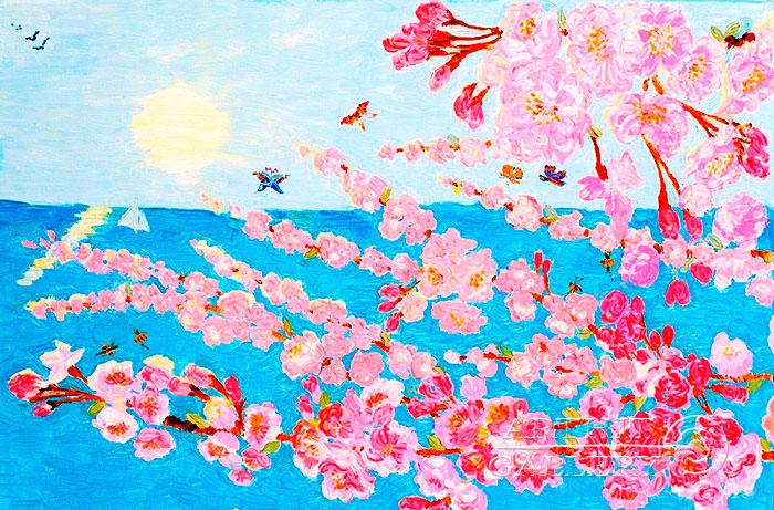 ''Цветущая сакура''.  Ал Любовь. Продажа картин, предметов декоративно-прикладного искусства