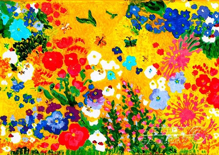 ''Солнечная клумба''.  Попова Любовь. Продажа картин, предметов декоративно-прикладного искусства