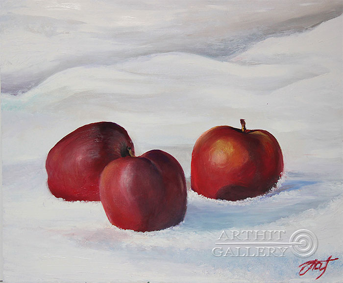 'Apples on the snow'. Pavlovich Anna