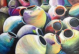 Картины маслом. Продажа картин современных художников. Анна Павлович. Амфоры с Н2О