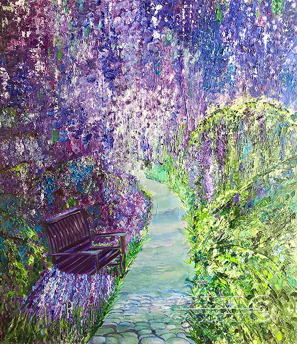 'Alone with the wisteria'  by Pavlovich Anna
