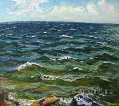 'Emerald waves'. Ponomareva Oksana