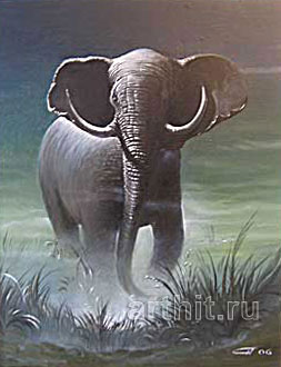 ''Слон''.  Яковлев Александр. Продажа картин, предметов декоративно-прикладного искусства