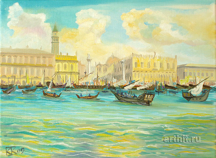 'View of St.Mark`s Square from the sea'. Vodolazkin Sergey