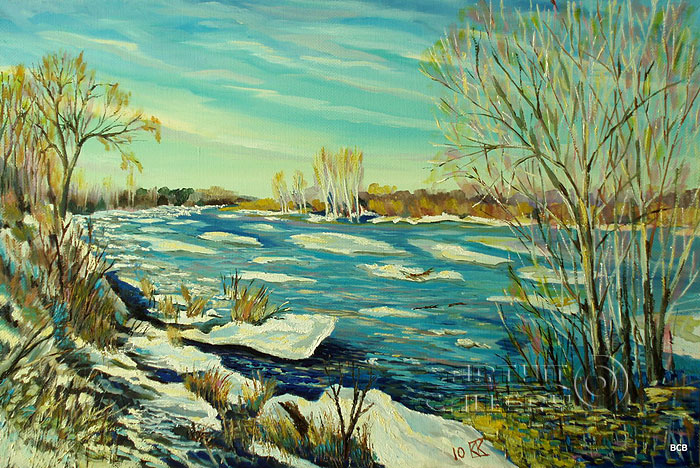 'Ice drifting on the Medveditsa River'. Vodolazkin Sergey