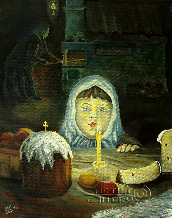 'Waiting for a miracle. Easter holy day'. Vodolazkin Sergey