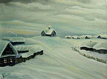 Русская зима в деревне