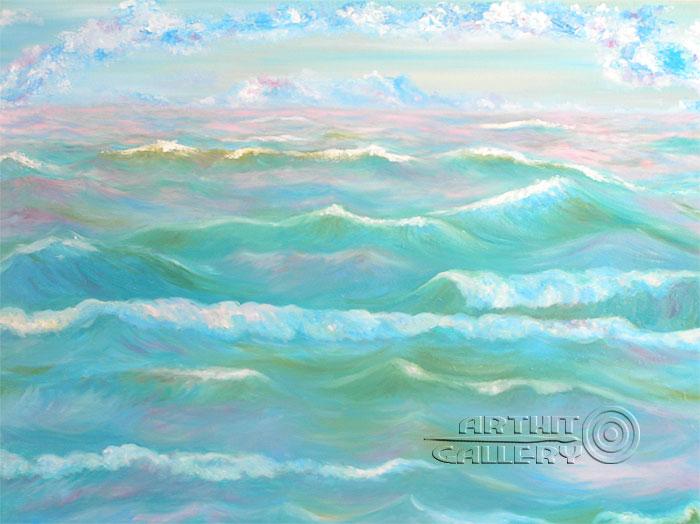 ''Морской пейзаж''.  Мец Екатерина. Продажа картин, предметов декоративно-прикладного искусства