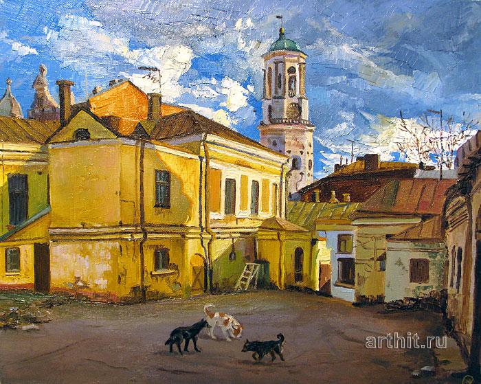 ''Старый дворик''.  Севериненко Евгения. Продажа картин, предметов декоративно-прикладного искусства
