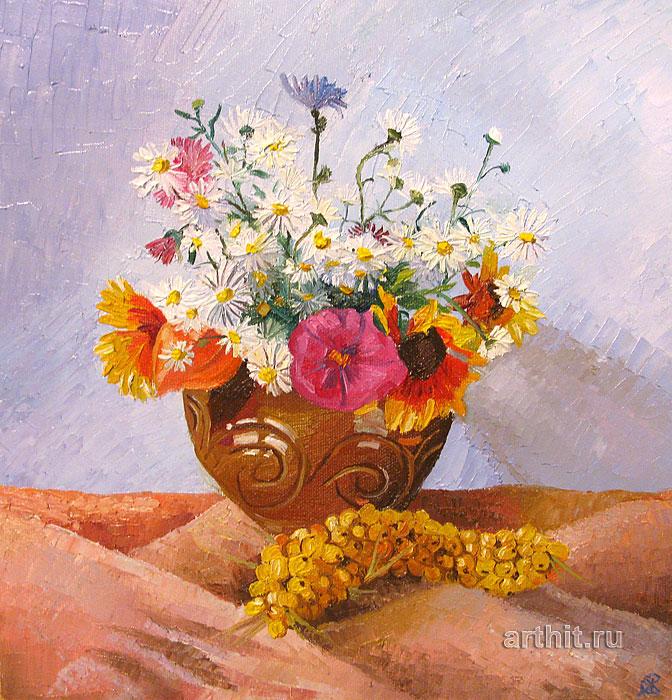 ''Цветы и облепиха''.  Севериненко Евгения. Продажа картин, предметов декоративно-прикладного искусства