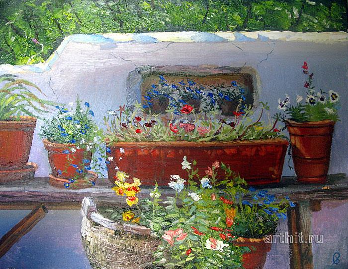 ''Цветы на солнце''.  Севериненко Евгения. Продажа картин, предметов декоративно-прикладного искусства