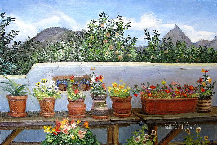 ''Цветы на солнце 2''.  Севериненко Евгения. Продажа картин, предметов декоративно-прикладного искусства