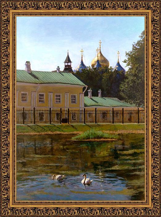 ''Два белых лебедя''.  Томарев Кирилл. Продажа картин, предметов декоративно-прикладного искусства
