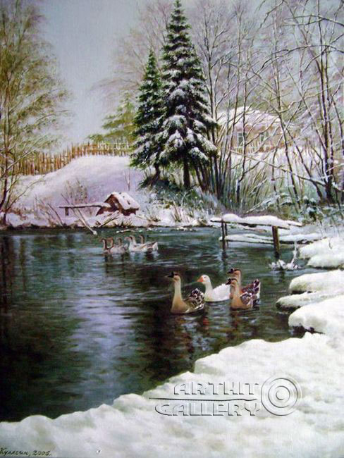 'Winter pond'. Kulagin Oleg