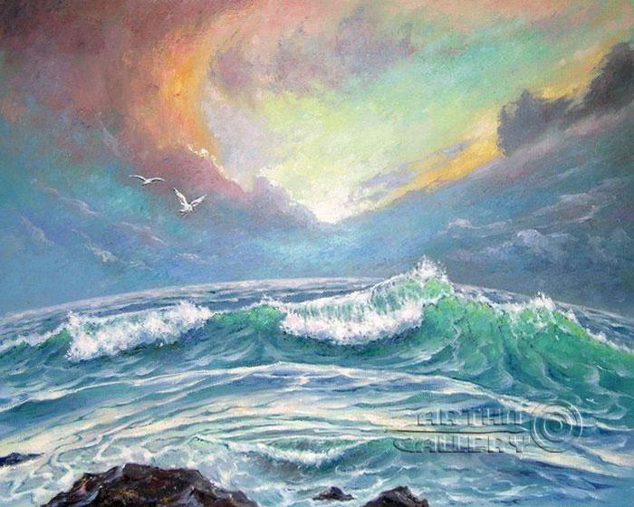 ''Музыка океана''.  Кулагин Олег. Продажа картин, предметов декоративно-прикладного искусства