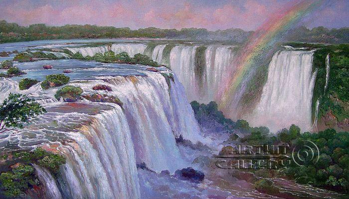 ''Водопад Игуасу''.  Кулагин Олег. Продажа картин, предметов декоративно-прикладного искусства