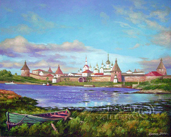 'View of the Solovetsky monastery |of Transfiguration'. Kulagin Oleg