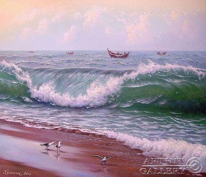 ''Дыхание океана''.  Кулагин Олег. Продажа картин, предметов декоративно-прикладного искусства