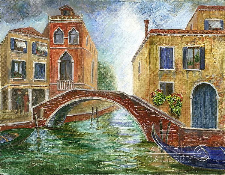 ''Каналы Венеции 2''.  Газарова Лариса. Продажа картин, предметов декоративно-прикладного искусства