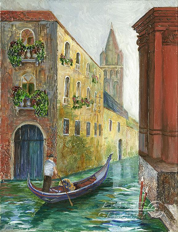 ''Каналы Венеции 3''.  Газарова Лариса. Продажа картин, предметов декоративно-прикладного искусства