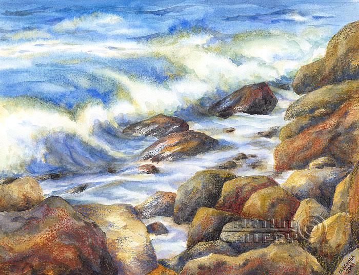 ''Крымские камни''.  Газарова Лариса. Продажа картин, предметов декоративно-прикладного искусства