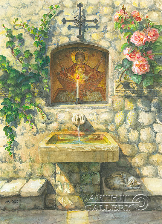 ''Хранитель''.  Газарова Лариса. Продажа картин, предметов декоративно-прикладного искусства
