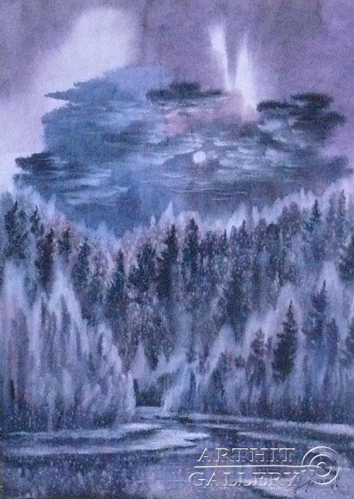 ''Лунная ночь''.  Еремин Сергей. Продажа картин, предметов декоративно-прикладного искусства
