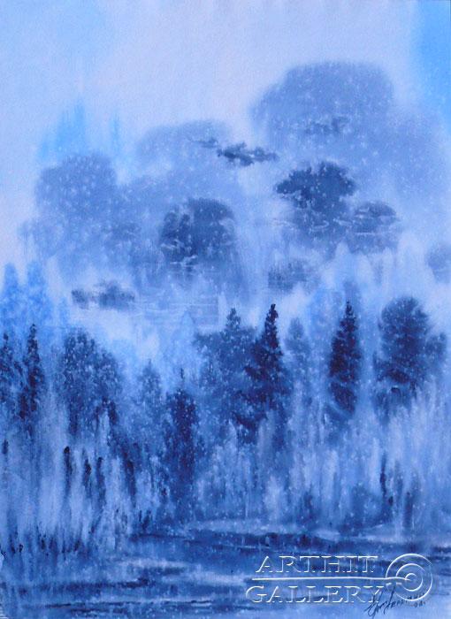 ''Первый снег''.  Еремин Сергей. Продажа картин, предметов декоративно-прикладного искусства