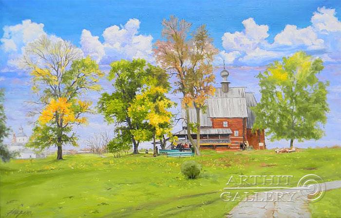 ''Суздаль. Осень''.  Морозов Анатолий. Продажа картин, предметов декоративно-прикладного искусства
