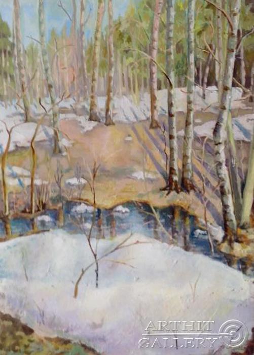 ''Весна''.  Силаева Нина. Продажа картин, предметов декоративно-прикладного искусства