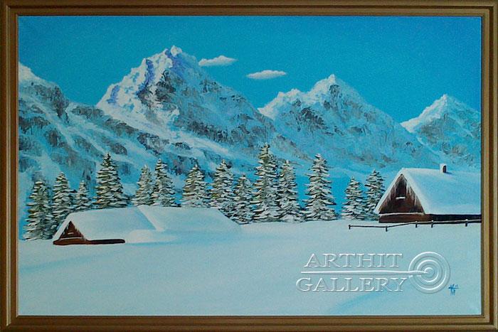 'Winter motive (by I.Saharov)'. Cherkasova Tatyana