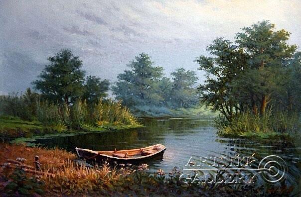 ''Лодка''.  Малякин Иван. Продажа картин, предметов декоративно-прикладного искусства