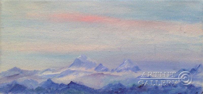 ''Снежные вершины''.  Генцарь Рената. Продажа картин, предметов декоративно-прикладного искусства