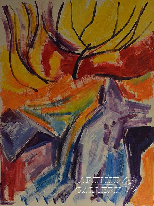 ''Река''.  Оганесян Асмик. Продажа картин, предметов декоративно-прикладного искусства
