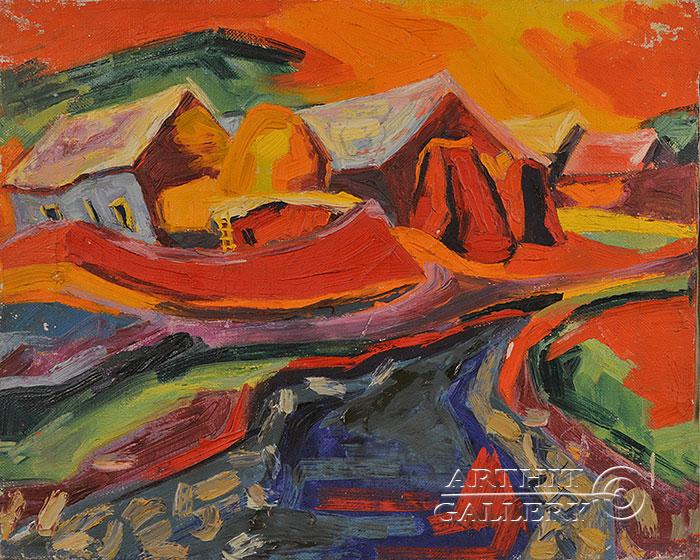 ''Село''.  Оганесян Асмик. Продажа картин, предметов декоративно-прикладного искусства
