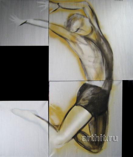 ''Прыжок 2''.  Нечаева Полина. Продажа картин, предметов декоративно-прикладного искусства