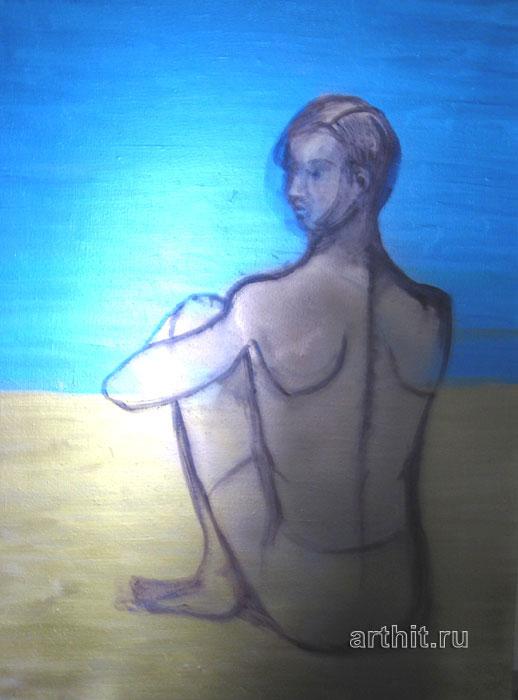 ''На пляже''.  Нечаева Полина. Продажа картин, предметов декоративно-прикладного искусства