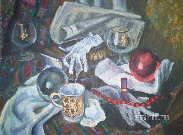 ''После праздника''.  Нечаева Полина. Продажа картин, предметов декоративно-прикладного искусства