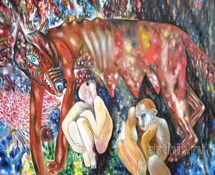 ''Ромул и рем''.  Гаврилов Владимир. Продажа картин, предметов декоративно-прикладного искусства