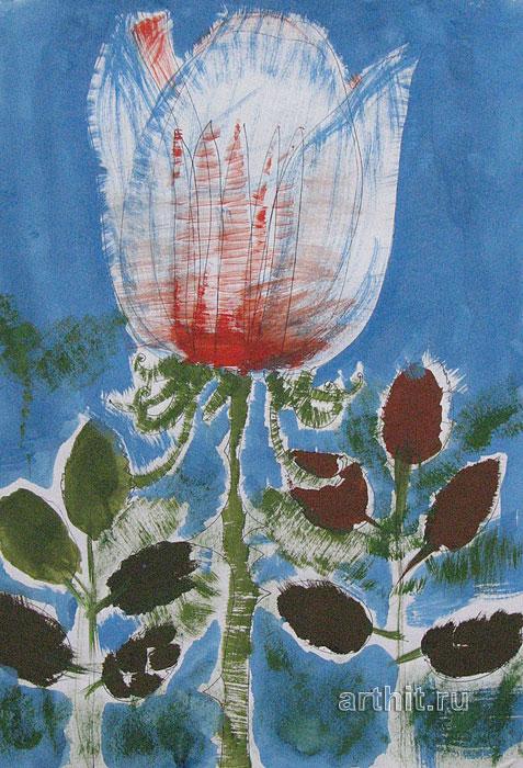 ''Роза-тюльпан''.  Сычева Марина. Продажа картин, предметов декоративно-прикладного искусства