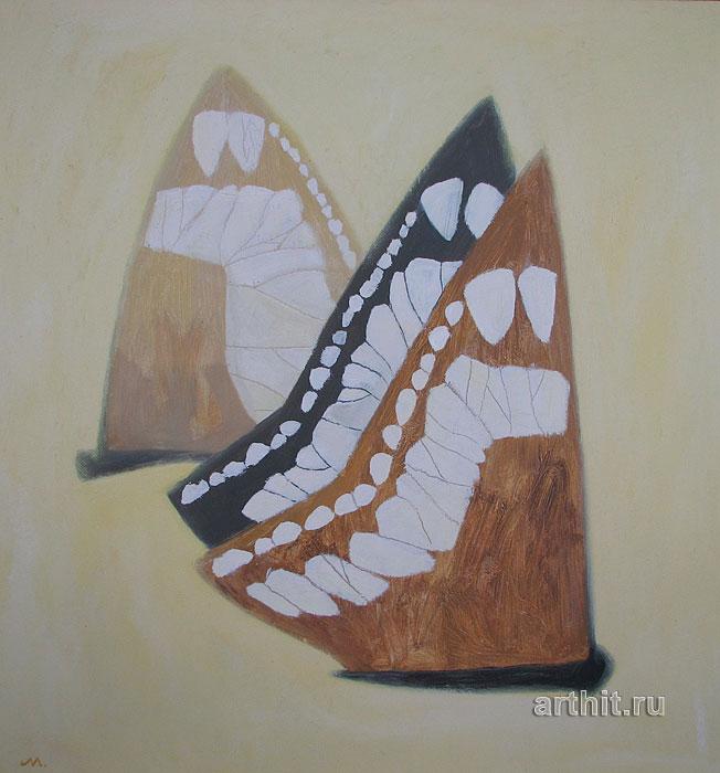 ''Бабочки на песке''.  Соболевский Михаил. Продажа картин, предметов декоративно-прикладного искусства