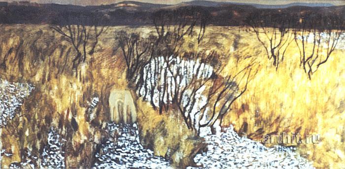 ''Первый снег''.  Соболевский Михаил. Продажа картин, предметов декоративно-прикладного искусства