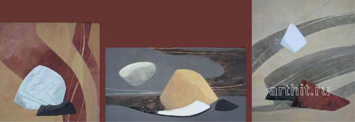 'Wild stones (triptych)'. Sobolevsky Mikhail