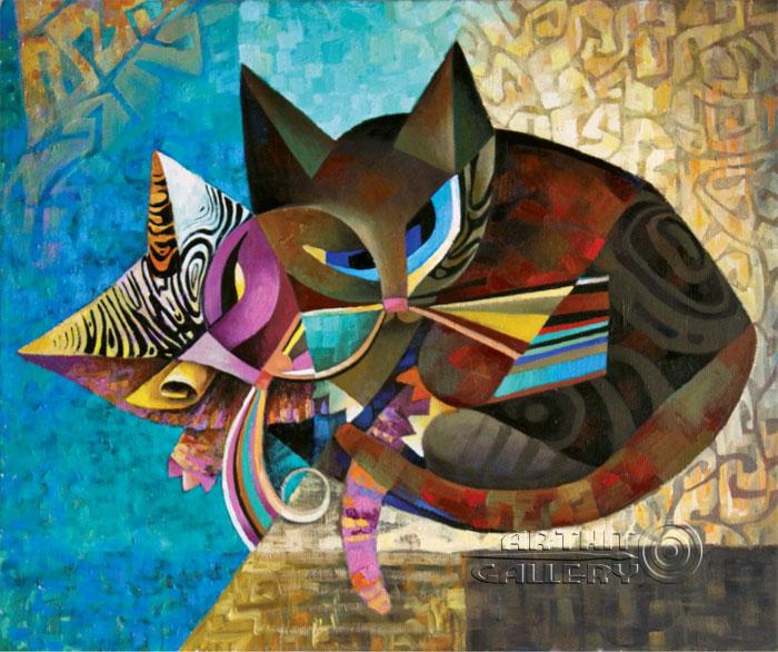 ''Котята''.  Ирисметова Лариса. Продажа картин, предметов декоративно-прикладного искусства