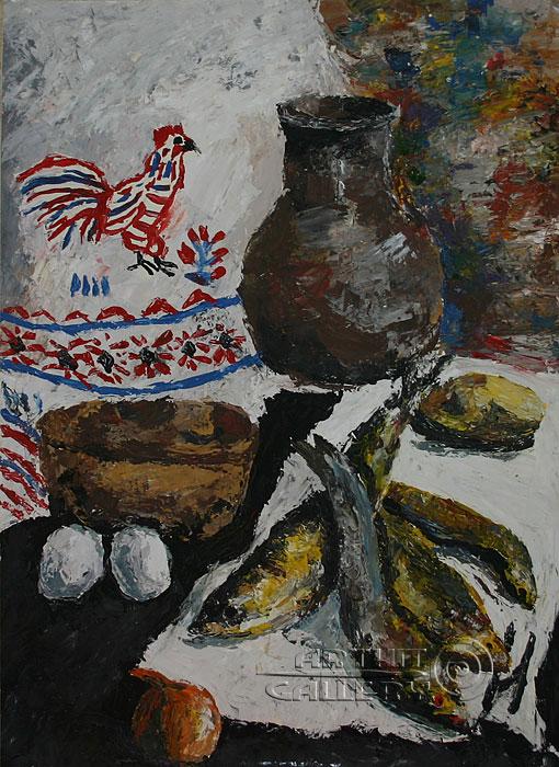 ''Натюрморт. Рыбы''.  Алферов Андрей. Продажа картин, предметов декоративно-прикладного искусства