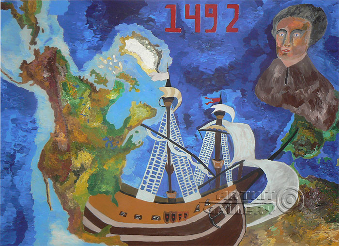 'Christopher Columbus. Discovery of America'. Alferov Andrei