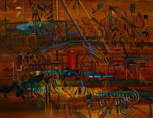 ''Натюрморт из ненужных предметов. 2''.  Чулкова Елена. Продажа картин, предметов декоративно-прикладного искусства