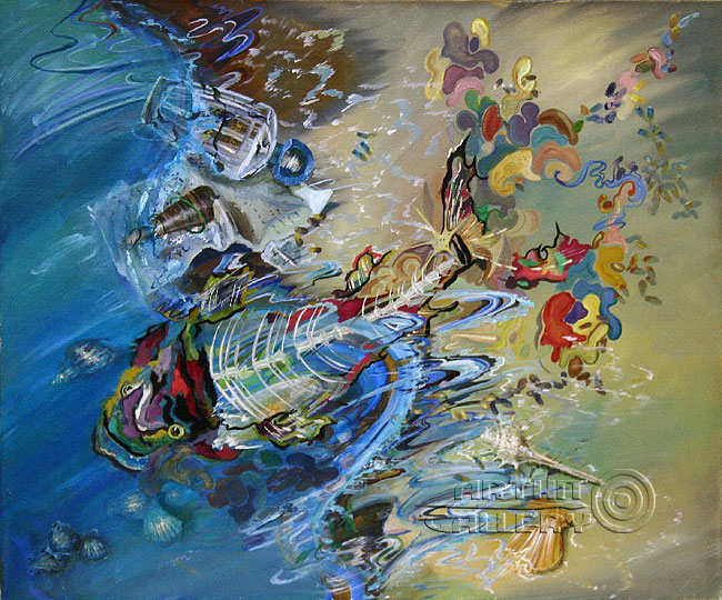 'Landscape with fish'. Chulkova Elena