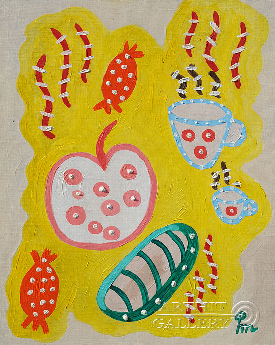 ''Утренний чай''.  Кортюкова Роза. Продажа картин, предметов декоративно-прикладного искусства